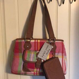 Plaid purse